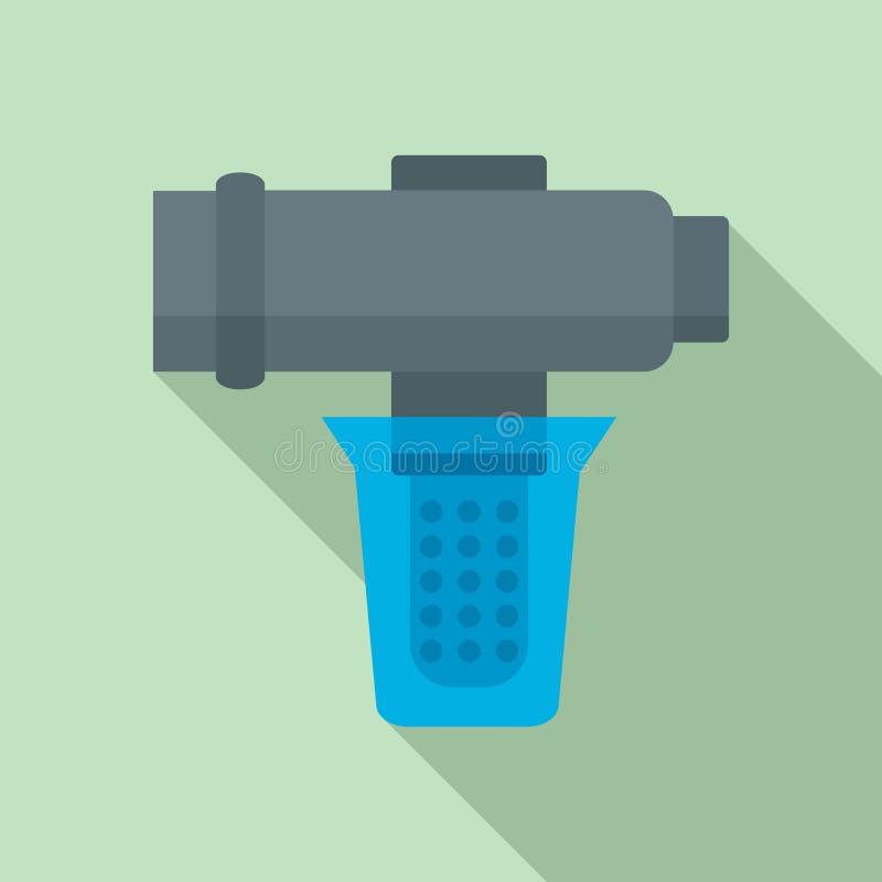 Icono de filtración del agua dura, estilo plano libre illustration