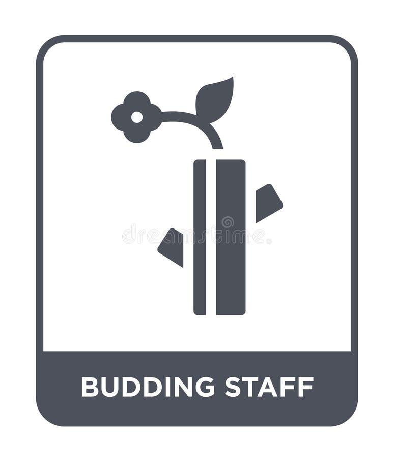 icono de florecimiento del personal en estilo de moda del diseño icono de florecimiento del personal aislado en el fondo blanco i stock de ilustración
