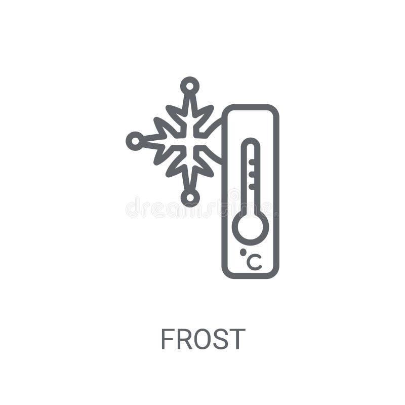 Icono de Frost Concepto de moda del logotipo de Frost en el fondo blanco de W stock de ilustración