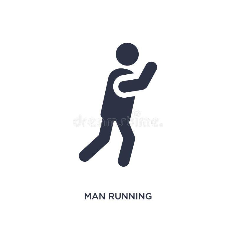 icono de funcionamiento del hombre en el fondo blanco Ejemplo simple del elemento del concepto del comportamiento libre illustration