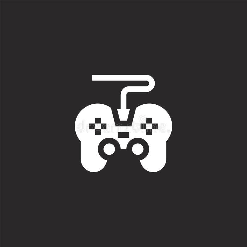 Icono de Gamepad Icono llenado del gamepad para el diseño y el móvil, desarrollo de la página web del app icono del gamepad de af libre illustration