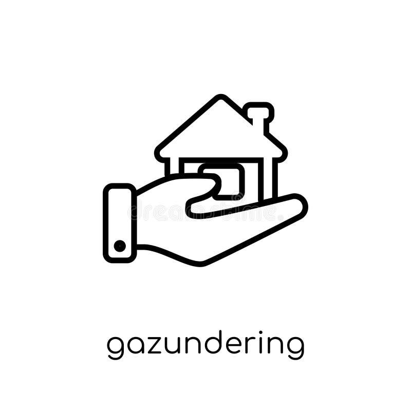 Icono de Gazundering  ilustración del vector