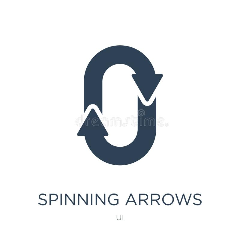 icono de giro de las flechas en estilo de moda del diseño icono de giro de las flechas aislado en el fondo blanco icono de giro d libre illustration