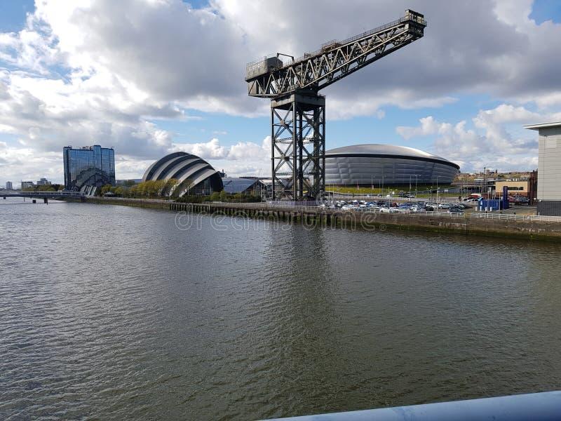Icono de Glasgow de la grúa de Finnieston fotos de archivo libres de regalías