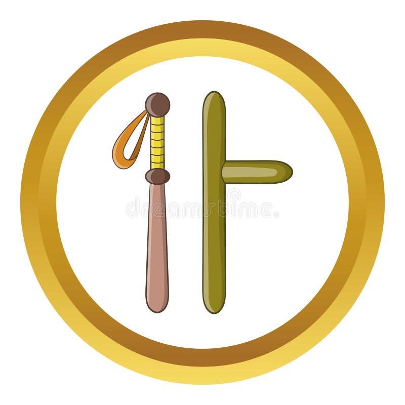 Icono de goma de los bastones ilustración del vector