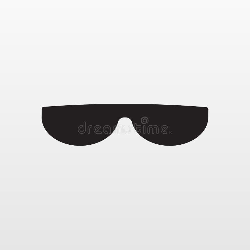 Icono de Gray Sunglasses aislado en fondo moder ilustración del vector