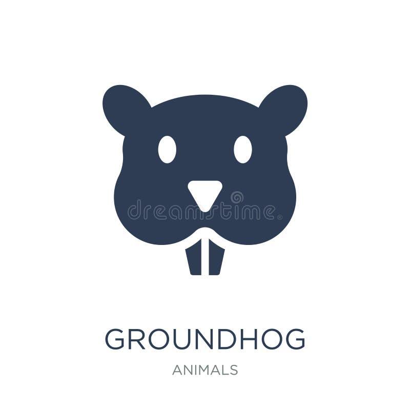 Icono de Groundhog  ilustración del vector