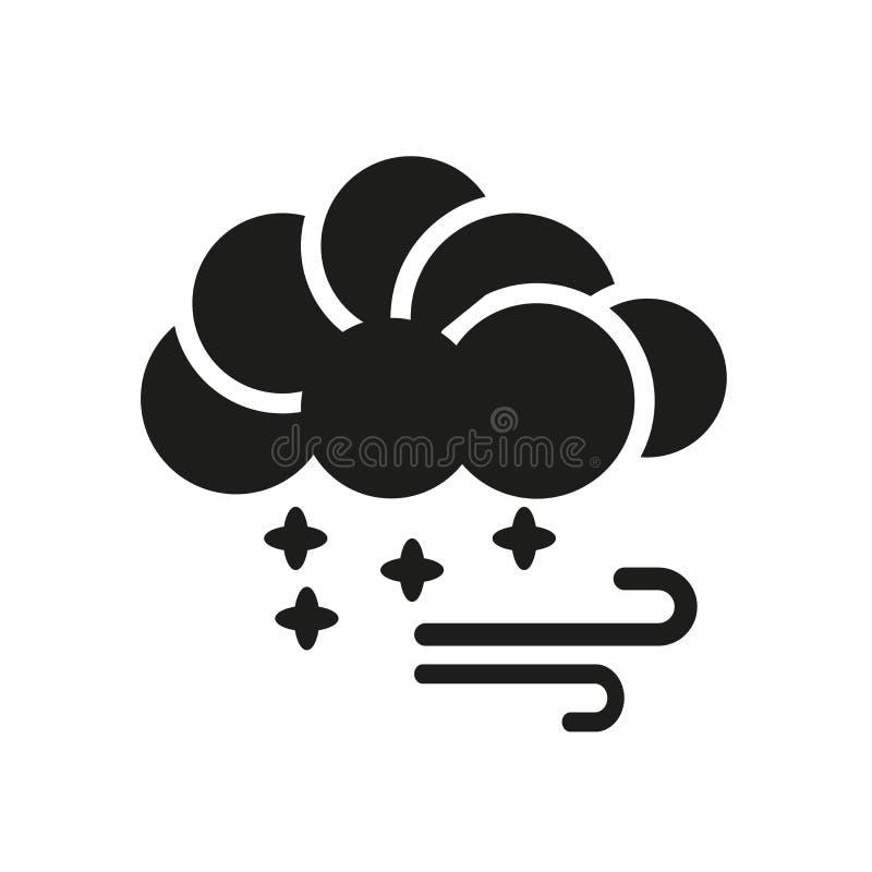 Icono de Hailstorm Concepto de moda del logotipo de Hailstorm en el backgroun blanco stock de ilustración