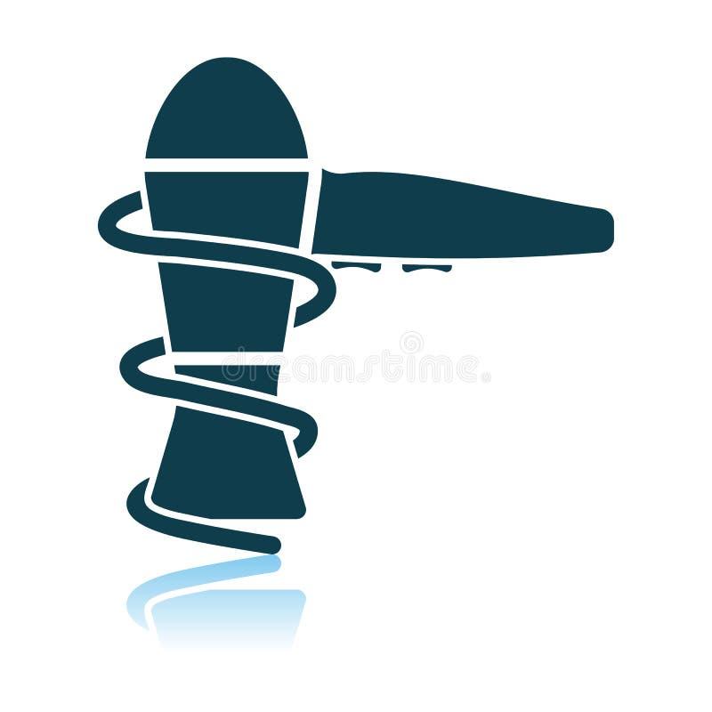 Icono de Hairdryer stock de ilustración