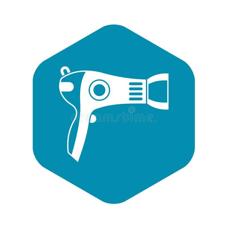 Icono de Hairdryer, estilo simple ilustración del vector