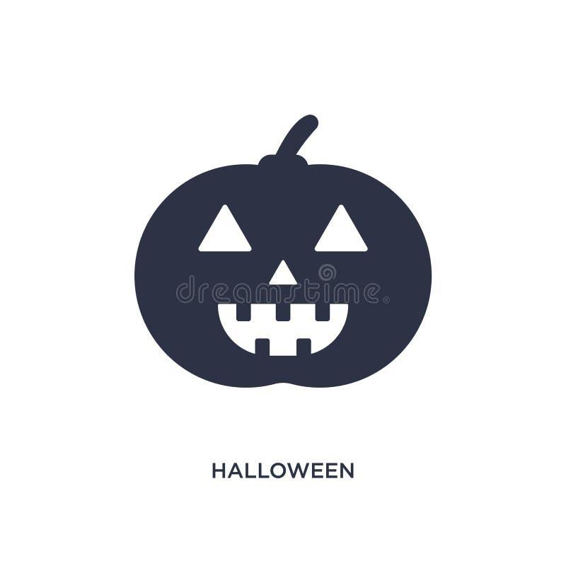 Icono de Halloween en el fondo blanco Ejemplo simple del elemento del concepto de la fiesta y de la boda de cumpleaños libre illustration