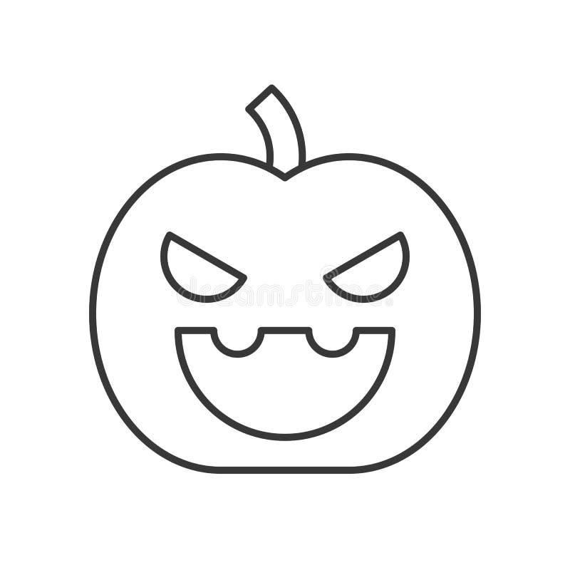 Icono de Halloween de la linterna de Jack o, movimiento editable, diseño del esquema stock de ilustración