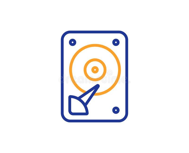 Icono de HDD Muestra del almacenamiento del disco duro Vector stock de ilustración