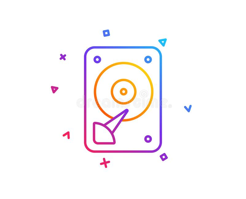Icono de HDD Muestra del almacenamiento del disco duro Vector ilustración del vector