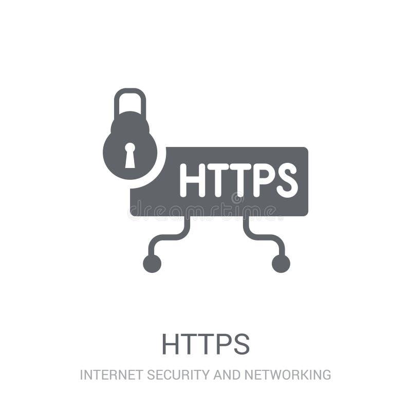 Icono de Https  stock de ilustración