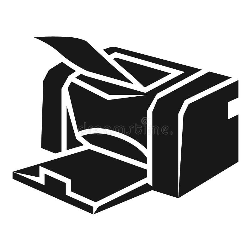 Icono de impresora casero, estilo simple libre illustration
