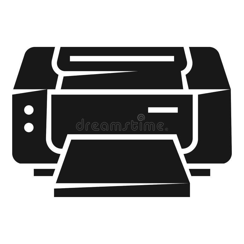 Icono de impresora de chorro de tinta, estilo simple stock de ilustración