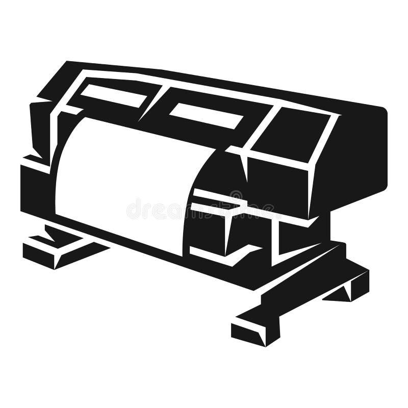 Icono de impresora del formato grande, estilo simple stock de ilustración