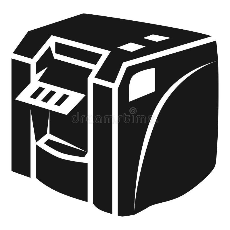 Icono de impresora de escritorio, estilo simple libre illustration