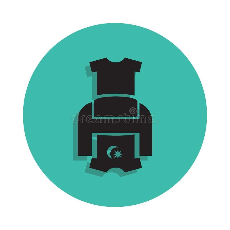 Icono de impresora de la camiseta Elemento de la casa de impresión para el concepto y el icono móviles de los apps del web Línea  stock de ilustración