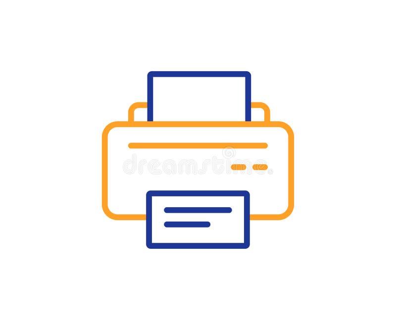 Icono de impresora Muestra del dispositivo del listado Vector libre illustration