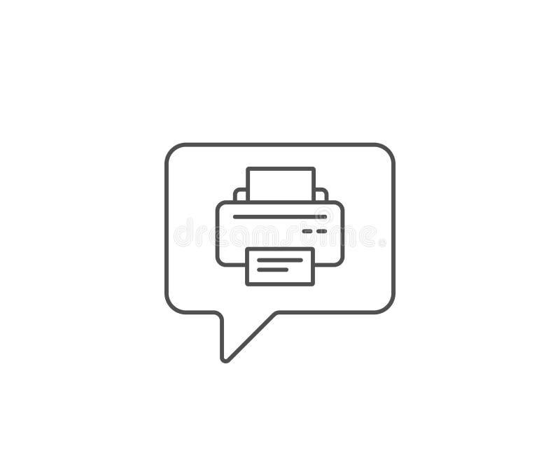 Icono de impresora Muestra del dispositivo del listado Vector ilustración del vector