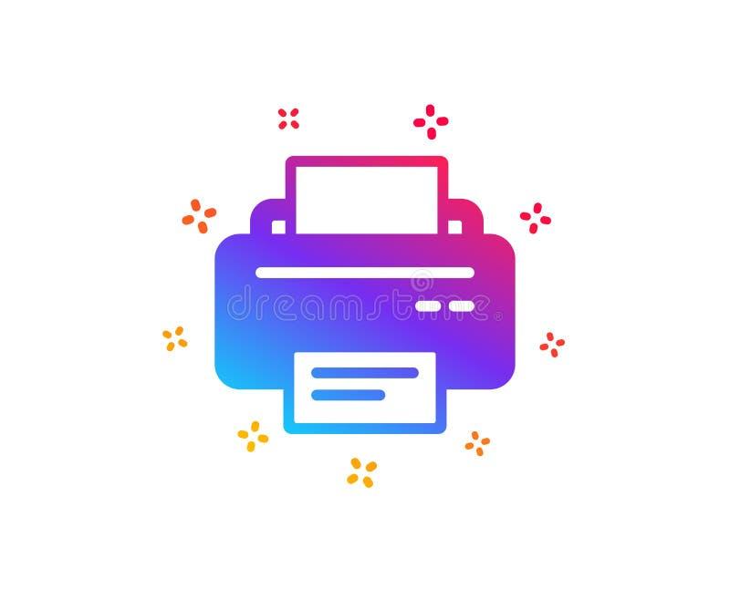 Icono de impresora Muestra del dispositivo del listado Vector stock de ilustración