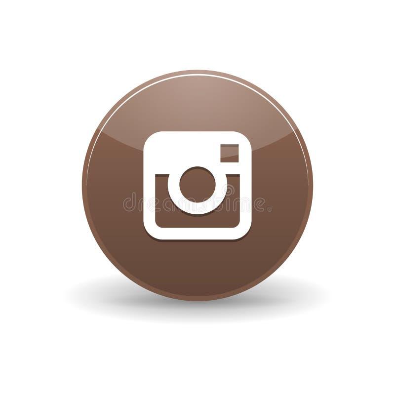 Icono de Instagram, estilo simple stock de ilustración