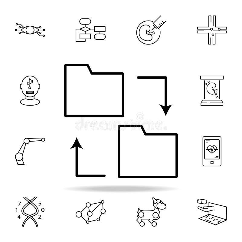 icono de intercambio de datos Sistema universal de los iconos de las nuevas tecnologías para el web y el móvil libre illustration