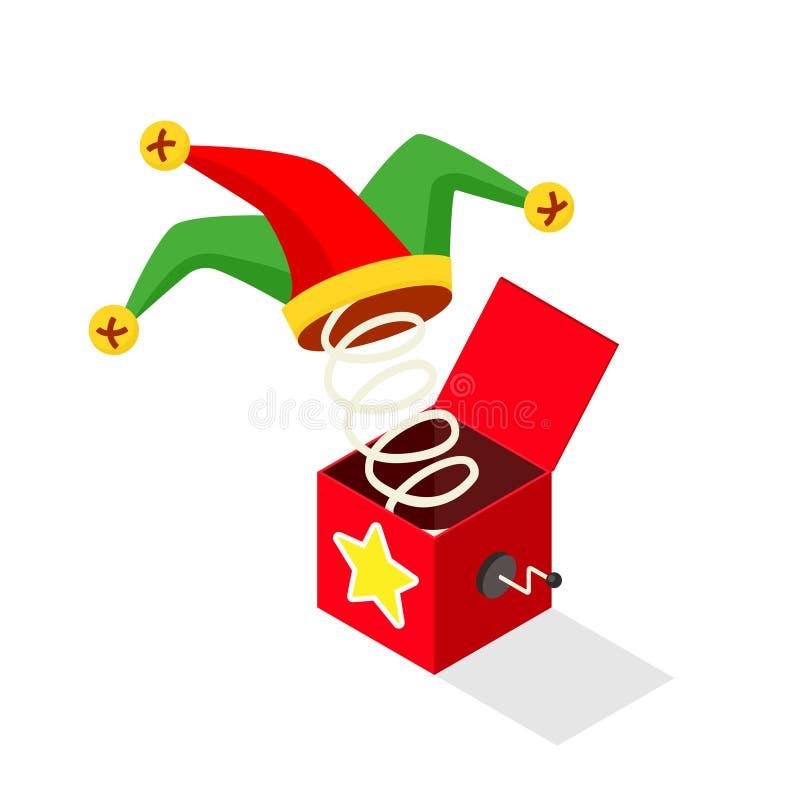 Icono de Jack In The Box stock de ilustración