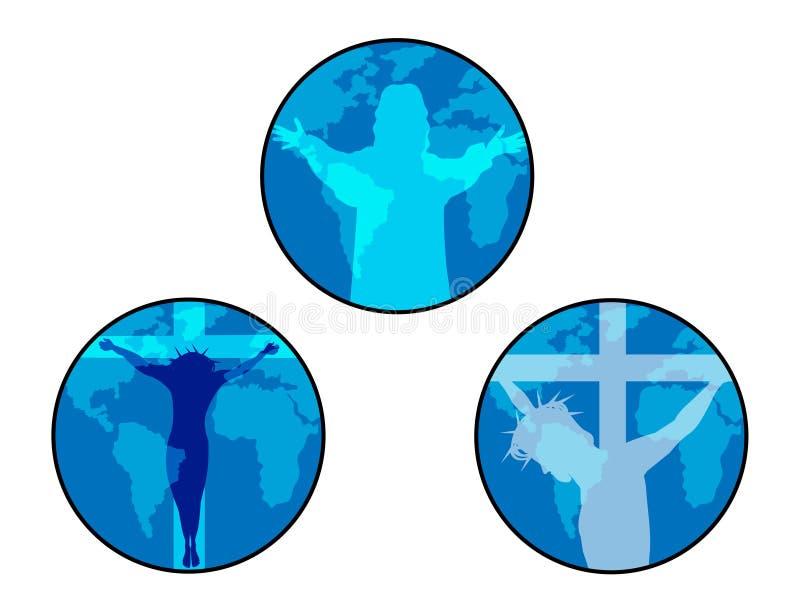 Icono de Jesús ilustración del vector