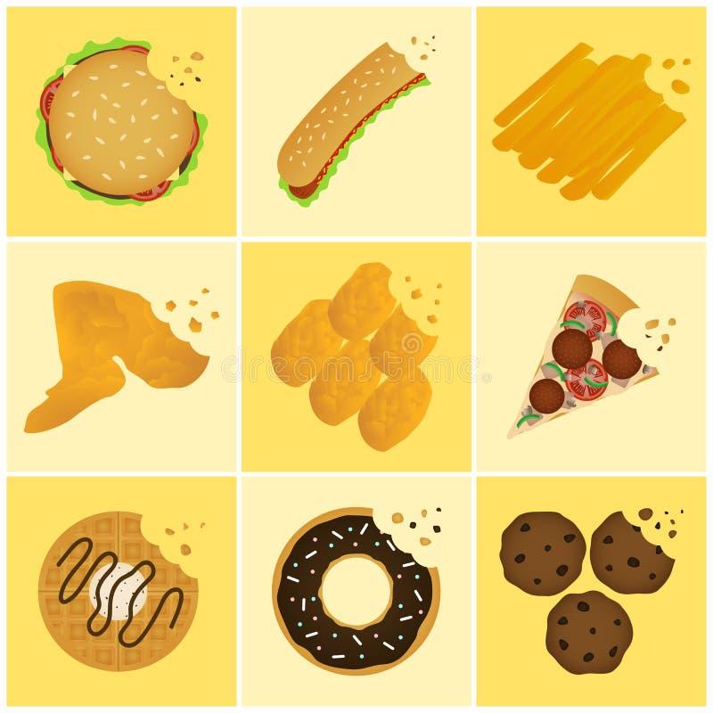 Icono de Junk Food stock de ilustración