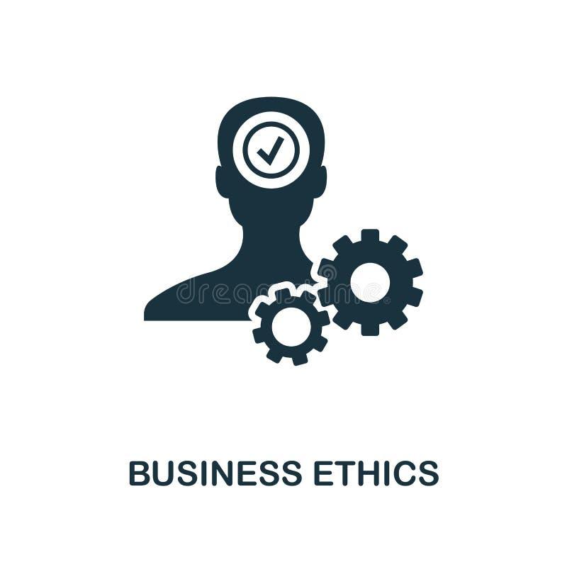 Icono de la ética empresarial Diseño monocromático del estilo de la colección del icono de la ética empresarial UI y UX Icono per ilustración del vector