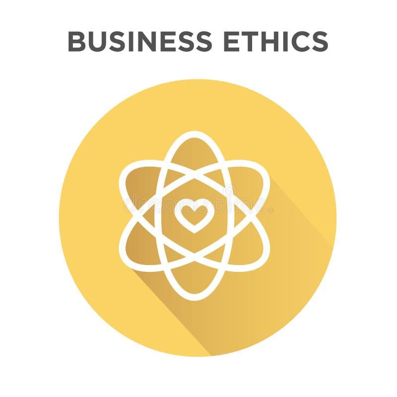 Icono de la ética empresarial en círculo stock de ilustración
