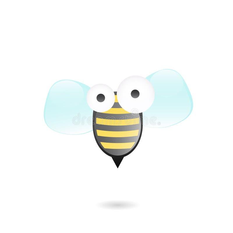 Icono de la abeja de la historieta ilustración del vector