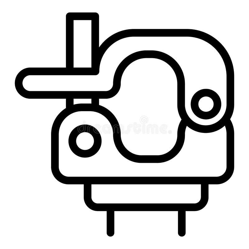 Icono de la abrazadera del eslabón giratorio, estilo del esquema ilustración del vector