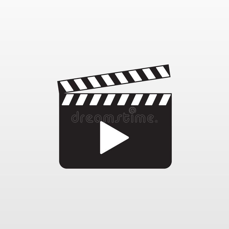 Icono de la acción de la cámara aislado Vector de la palmada de la película Pictograma plano moderno, negocio, márketing, Interne ilustración del vector