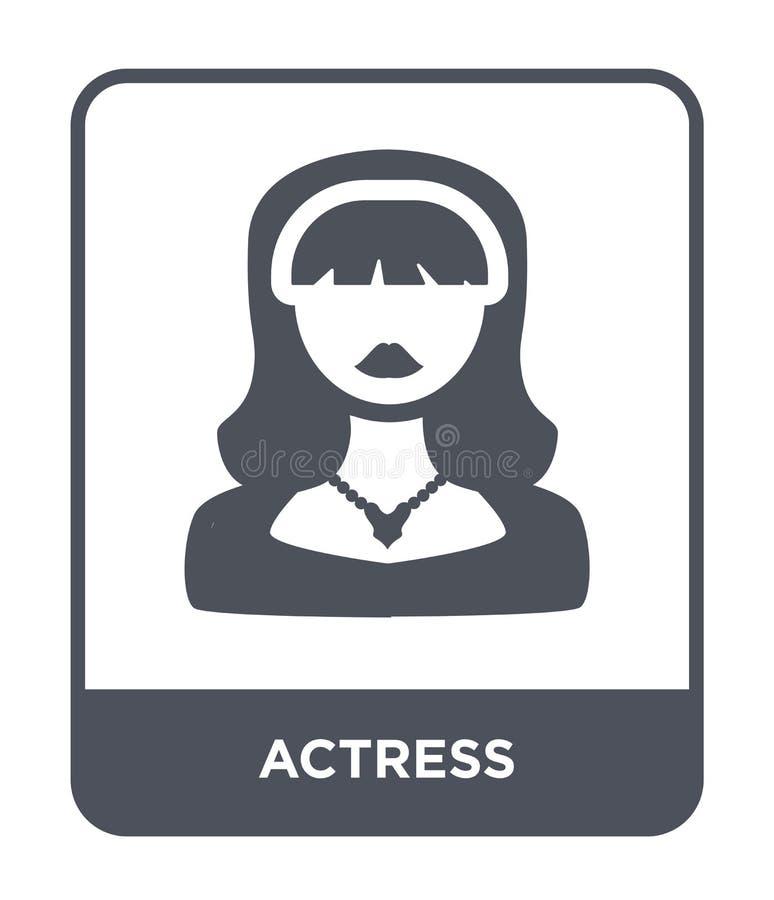 icono de la actriz en estilo de moda del diseño icono de la actriz aislado en el fondo blanco símbolo plano simple y moderno del  stock de ilustración
