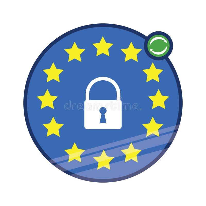 Icono de la actualización de la política de privacidad stock de ilustración