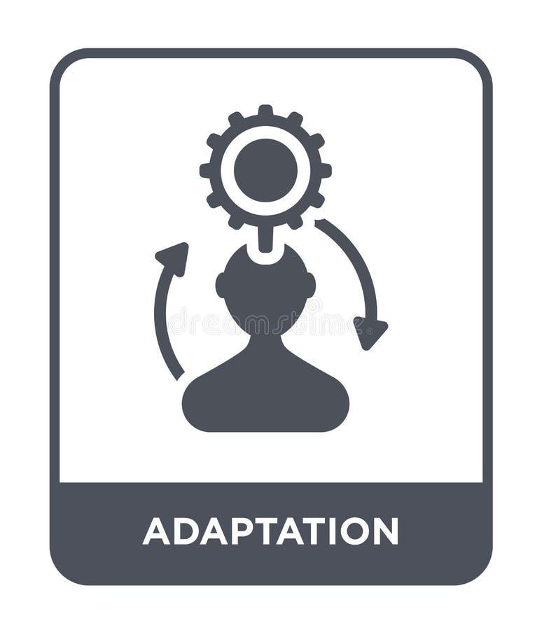 icono de la adaptación en estilo de moda del diseño icono de la adaptación aislado en el fondo blanco icono del vector de la adap stock de ilustración