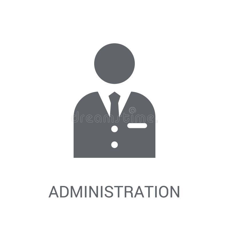 Icono de la administración  stock de ilustración