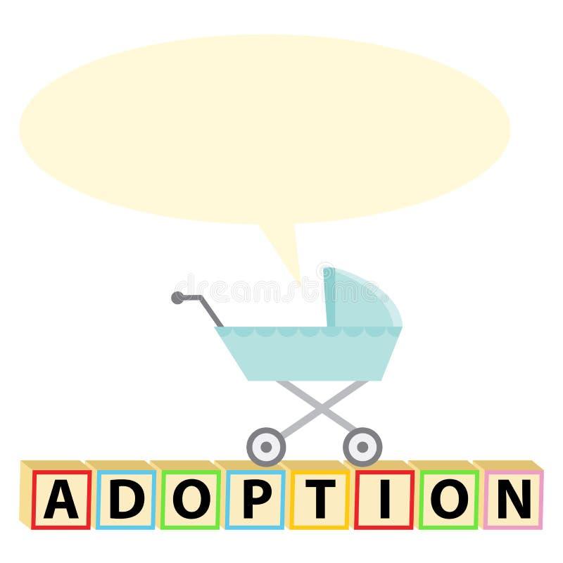 Icono de la adopción del niño stock de ilustración