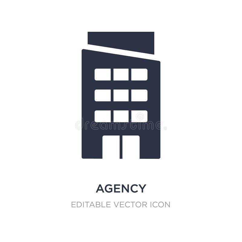 icono de la agencia en el fondo blanco Ejemplo simple del elemento del concepto de los edificios ilustración del vector