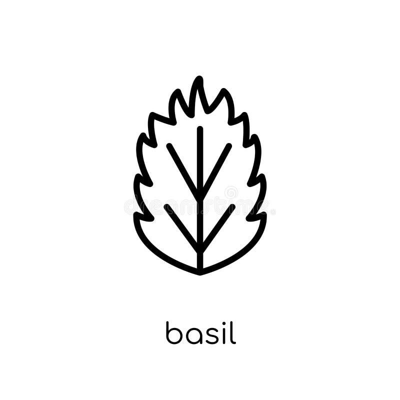 icono de la albahaca  stock de ilustración