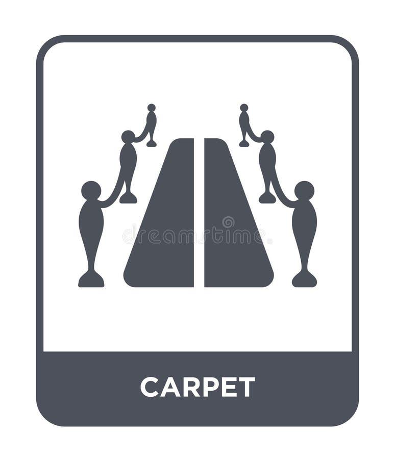 icono de la alfombra en estilo de moda del diseño icono de la alfombra aislado en el fondo blanco símbolo plano simple y moderno  ilustración del vector