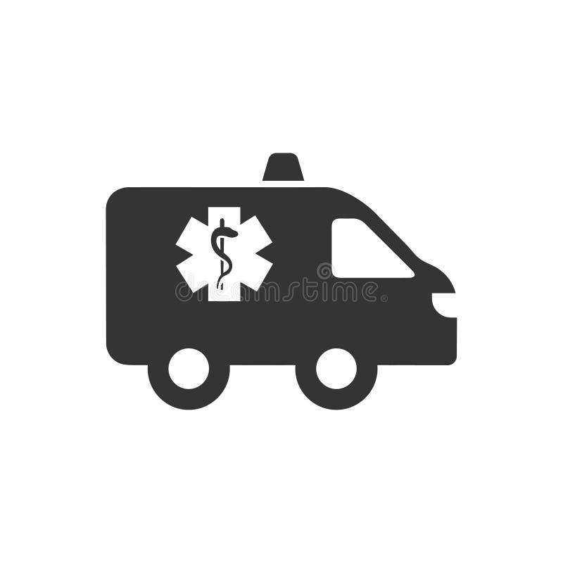 Icono de la ambulancia stock de ilustración