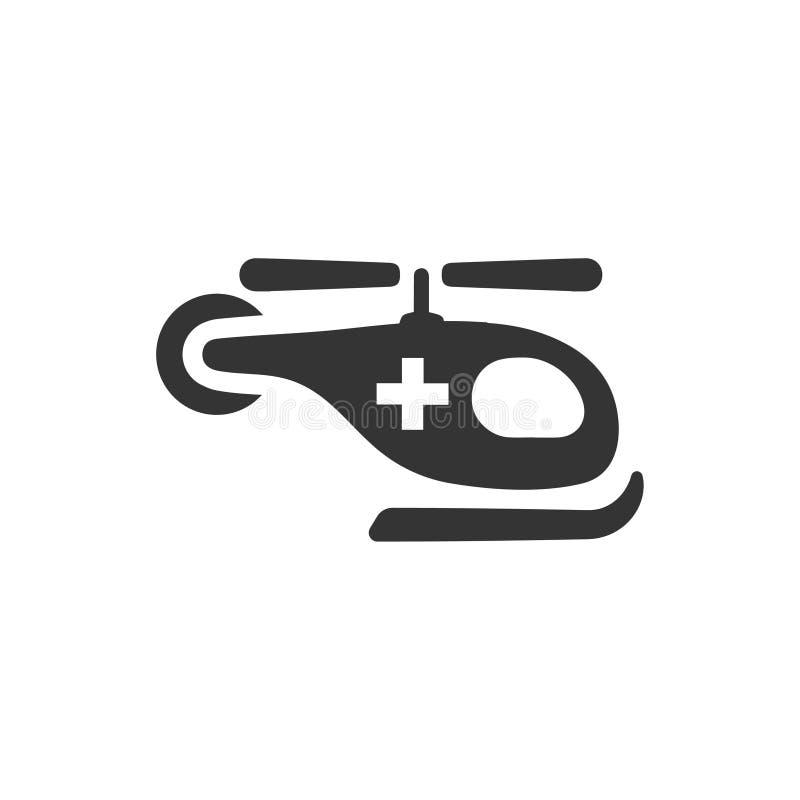 Icono de la ambulancia aérea ilustración del vector
