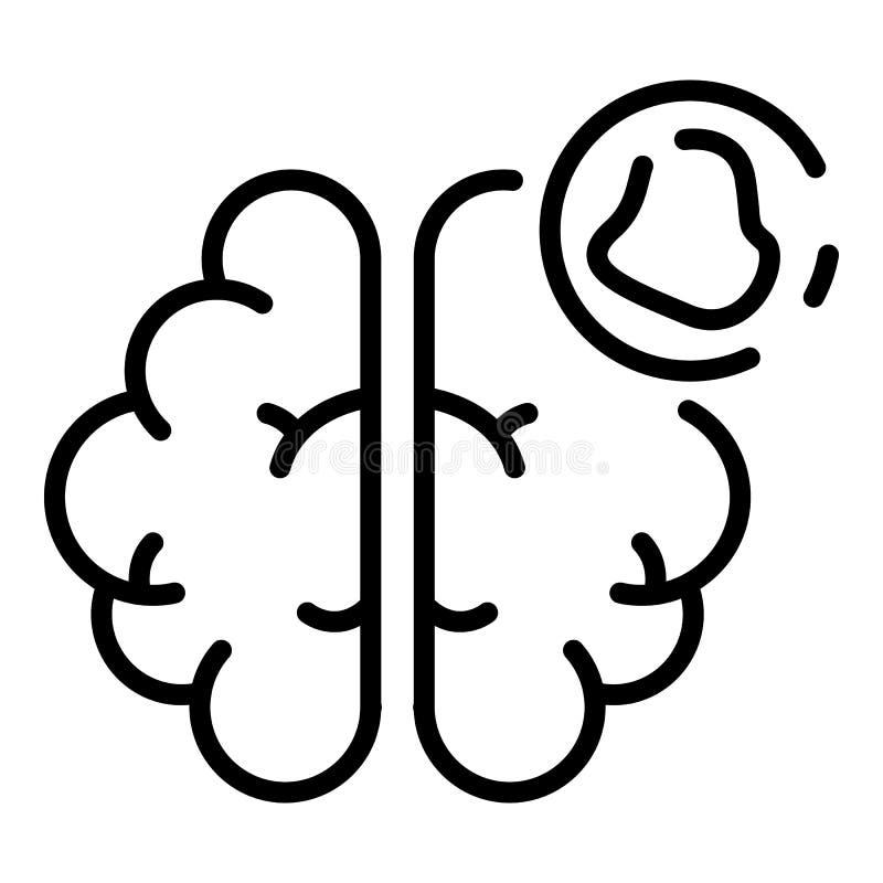 Icono de la amnesia del cerebro, estilo del esquema ilustración del vector