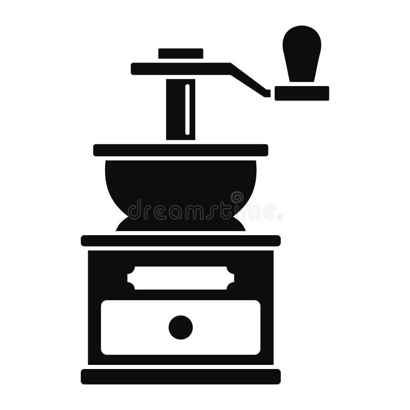 Icono de la amoladora de café, estilo simple stock de ilustración