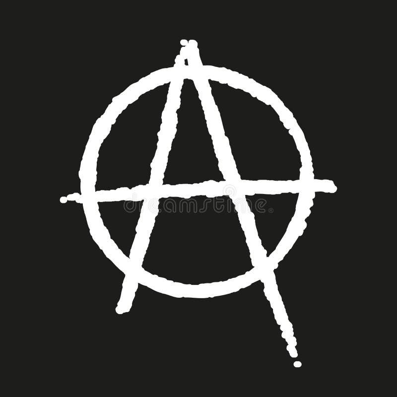 Icono de la anarquía ilustración del vector